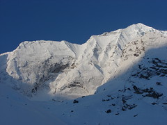 Hiunchuli, from Annapurna Base Camp. (Pikes On Bikes) Tags: annapurna sanctuary basecamp hiunchuli pikesonhikes