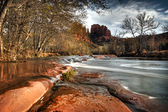Cathedral Rock, Sedona, Arizona (mcazadi) Tags: arizona rock stream cathedral sedona rivers instantfave platinumphoto goldstaraward llovemypic absolutelystunningscapes