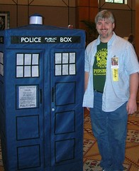 Me and the TARDIS at OmegaCon Birmingham 2008