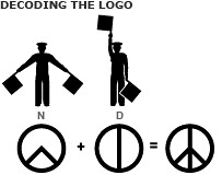 ND (mashroms) Tags: news against logo for war peace nuclear gerald bbc 1958 hmmm dac 50 bombs anti campaign committee disarmament cnd holtom peacelogo