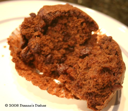 Gluten Free Chocolate Chocolate Chip Muffins: The Inside Goodness