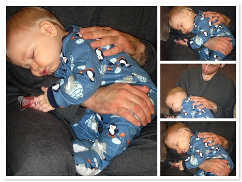 Sleeping in Daddy's lap