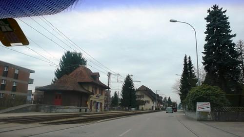 Flumenthal Station on the left