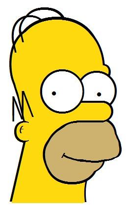 Diseño Vectorial con CSS | Homer Simpson en Verdana ceslava 0
