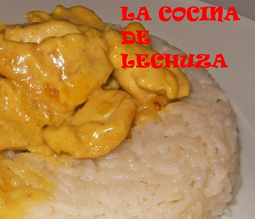 Pollo al curry-detalle