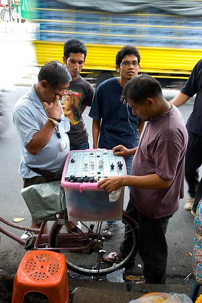Streetside chess, Thanon Maharat, Bangkok