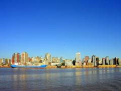 Porto de Porto Alegre (Claudio Marcon) Tags: blue brazil sky lake water azul brasil river lago boat barco portoalegre rs guaíba riograndedosul 304 fotoclube flickrsbest photoexplore claudiomarcon claudiolmarconribeiro