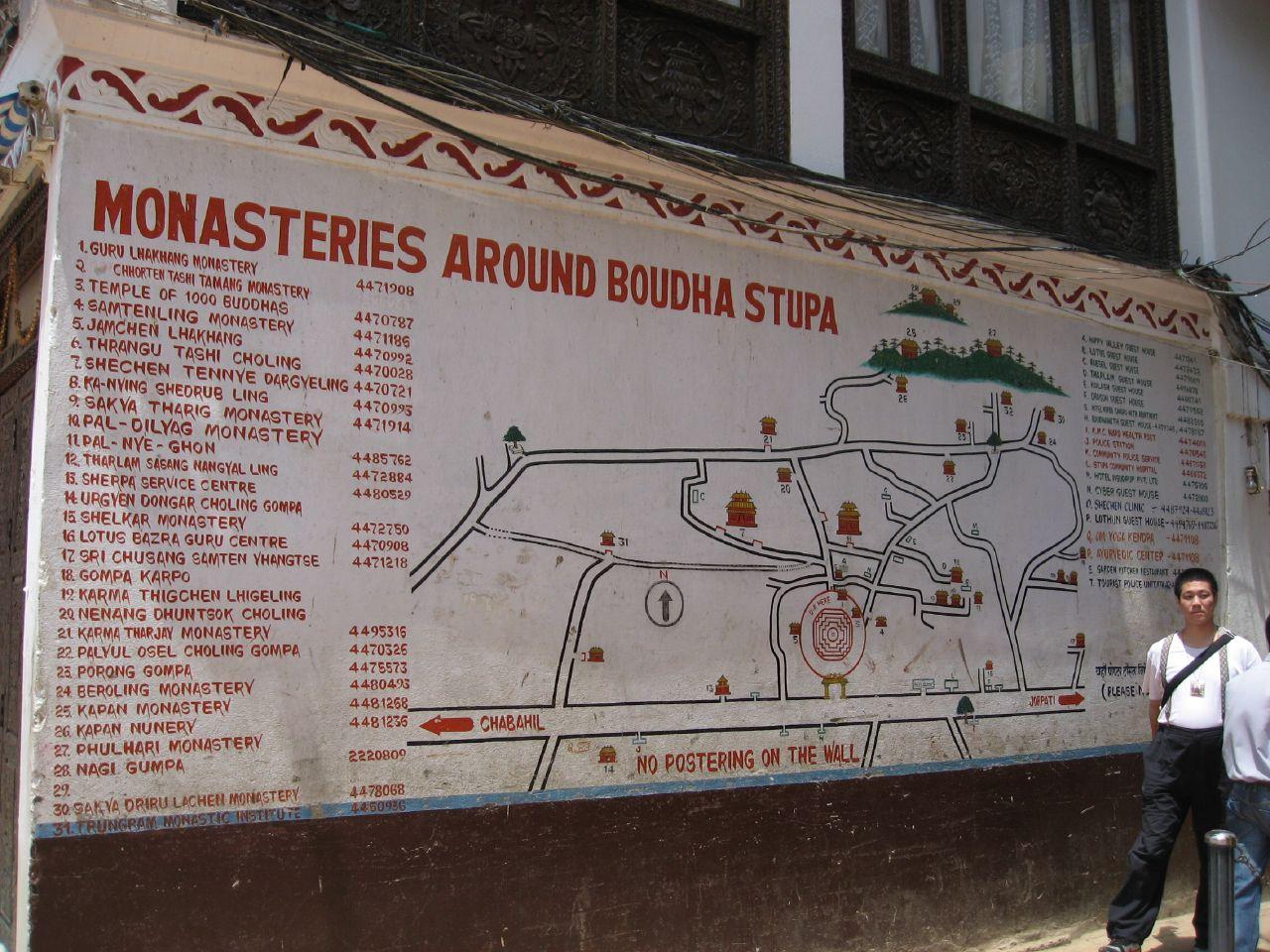 Map of monasteries