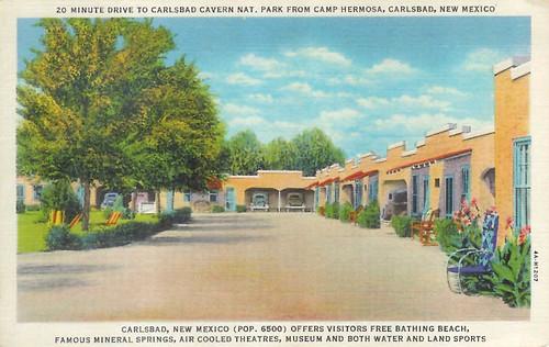 Camp Hermosa Tourist Court. Carlsbad, NM