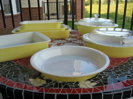 Pyrex Desert Dawn Yellow Set