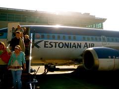 Leaving Tallinn and flying home
