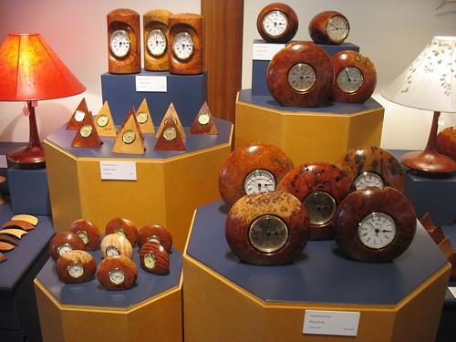 Bungendore wooden souvenirs: clocks