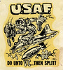 U.S.A.F. do unto VC then split (ARTofCOOP) Tags: roth military vietnam hotrod decal safe usaf ratfink vietnamwar edbigdaddyroth waterslidedecal dountovcthensplit