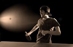 The pain shot (Fraser MacMannis) Tags: black nikon sb600 d200 ping pong cls sb800 strobist johnpingpong