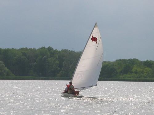 Sailing Busse Lake -- Racing