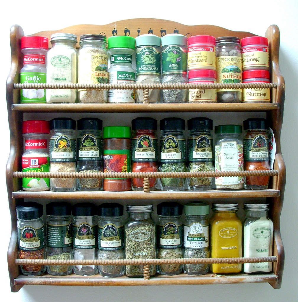 My favorite, wooden spice rack