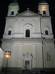 St. Mary's Parish Church at Night (deplaqer) Tags: church czechrepublic cz towncenter moravia valtice stmarysparishchurch
