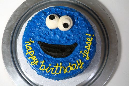 Jesse's Cookie Monster Cake