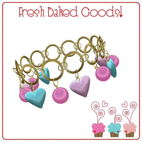 ~*Fresh Baked Goods*~ NEW FREEBIE Signature Color Gold Charm Bracelet