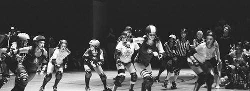 wall of rollergirls