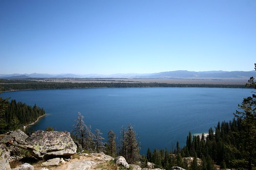 Jenny Lake from Inspiration Point (Beaver Creek, Wyoming, United States) Photo