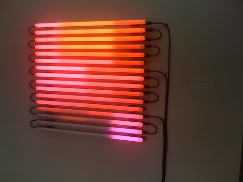 Leo Villareal neon sculpture, Brooklyn Museum