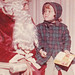 Nancy Martin with Santa-circa 1963