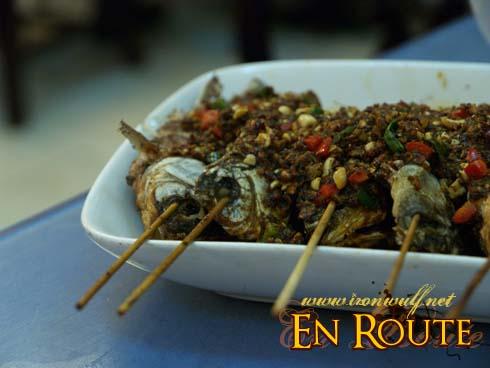 Chili BBQ Fish on sticks