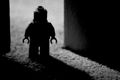 Day 53 (a Dan of action) Tags: shadow blackandwhite silhouette lego pentax 365 k100dsuper