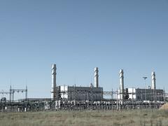 industrial plant (AgusValenz) Tags: blue sky plant planta industry azul landscape nikon industrial factory power cielo soviet coolpix centralasia kazakhstan industria fabrica eurasia p80 казахстан xpa казакстан karabatan expatriado