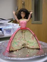 Oh nooooo! (dconley) Tags: cake barbie amputee legless cirrie