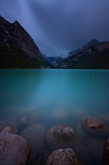 Alone (Ar'alani) Tags: longexposure travel canada green nature landscape evening glacier banff lakelouise canon1022mm nd400 hoyamoose