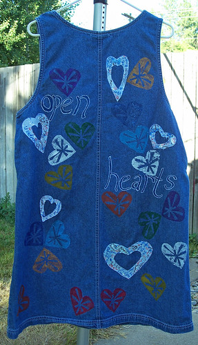 Back of denim jumper, 8/14/08