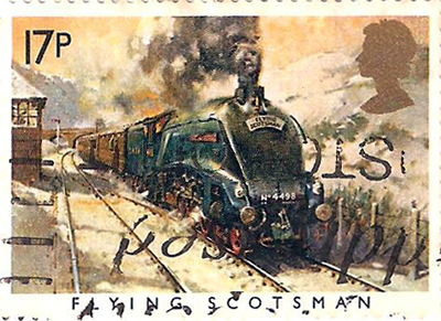 Great Britain Flying Scotsman Stamp