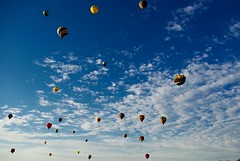 the sky filled with balloons (zyrcster) Tags: sky clouds balloons coloradosprings hotairballoons memorialpark coloradoballoonclassic photofaceoffwinner pfogold