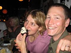 Tasting cupcakes!