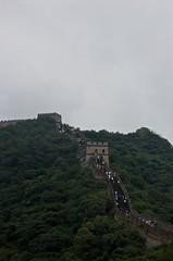 High on the Great Wall (Mrs eNil) Tags: china hot nikon beijing greatwall olympics hardwork bt muggy humid greatwallofchina wallofchina olympics2008 veryhigh sportsworld d40 steepsteps nikond40 august2008 ratherscary wontripinaprizedraw