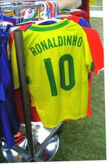 ronaldinho (moroccogirl) Tags: toronto sport shirt football display ronaldinho soccer player purchase hangers yellowgreen number10 hispanicfestival
