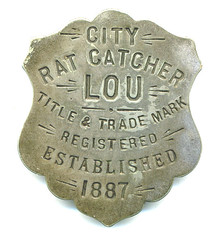 City Rat Catcher Badge