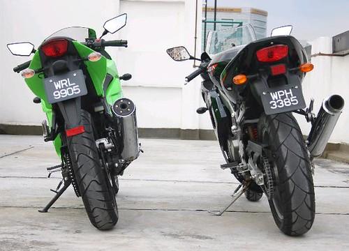 Kawasaki Ninja Rr 150cc. a Kawasaki Ninja 250r and