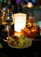 Aperitivo (Raphael Borja) Tags: italy glass night canon lowlight italian italia rice wine drink bokeh spirit beverage culture pasta chips cocktail alcohol snack mojito candlelight tradition custom appetizers focaccia tortilla castellanza risotto vino aperitivo tortellini aperitif lombardy mortadella uptownbar sigma30mmf14 40d