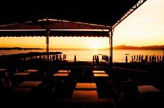 It's the end of the summer I (Ilaria ) Tags: xpro tramonto mare crossprocess sole spiaggia congresso diapositiva sestrilevante kodakelitechrome100 kodakelitechrome analogico pentaxmz30 sviluppoinvertito