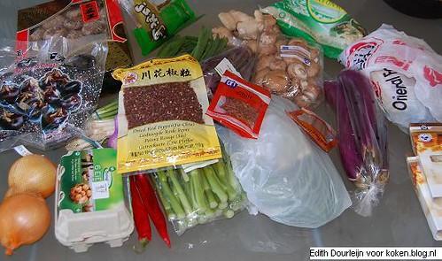 workshop chinees koken op koken.blog - de boodschappen