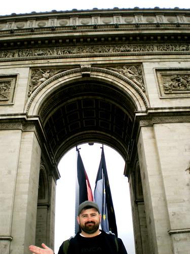 Me at The Arc de Triomphe