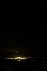 上富良野の夜景と星空