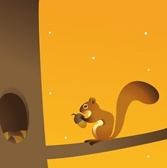 squirrel (suzy_yes) Tags: money illustration squirrel allegory investment vector eichhrnchen magazinecover allegorie  kommersant mariazaikina businessguide