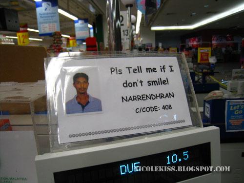 pls tell me if i don't smile sign