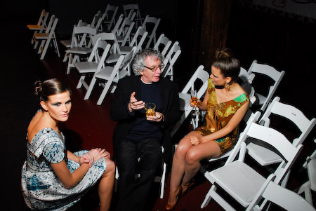 Alex talks with the models after the show