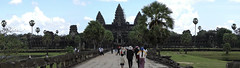 Walking up to Angkor Wat