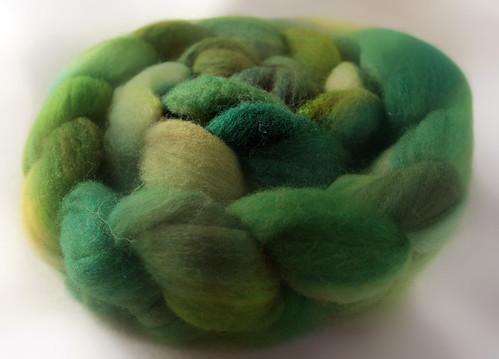 vihreä merino-silkki